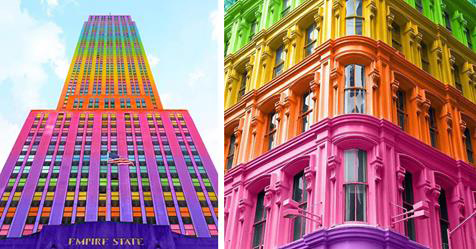 Have You Ever Wondered How Iconic Buildings Would Look With Kaleidoscopic Colors?