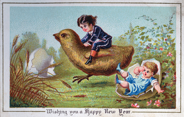 holiday cards victorian era