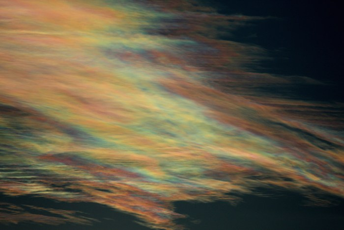 iridescent clouds colorful rainbows
