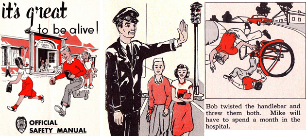 It's Great To Be Alive! – A Grim Safety Manual Booklet for Kids from the 1950s