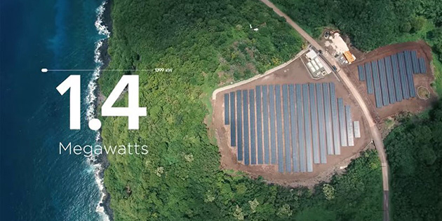 Renewable Solar Energy used by Tesla to give power to an island with 600 residents
