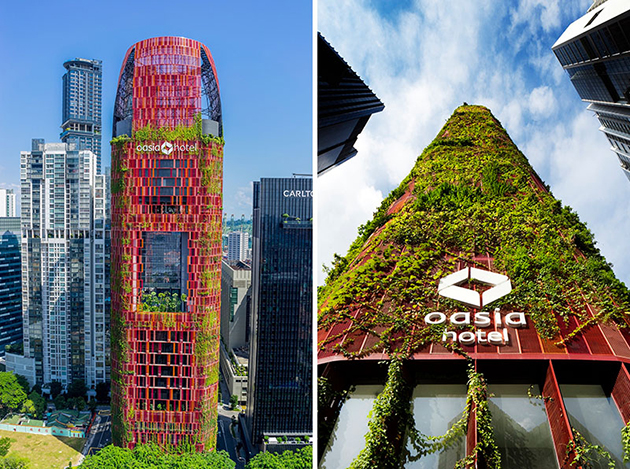 19 Pictures Of The Plant Covered Exterior Of The Oasia Hotel In Singapore