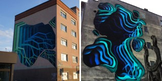 Street Artist Spray-Paints Colorful Optical Illusion Murals on Buildings