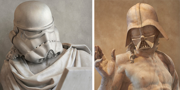 Star Wars Characters Reimagined as Ancient Greek Statues
