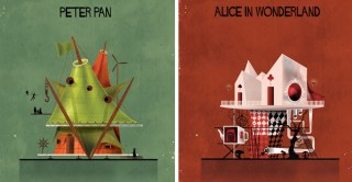 Delightful Illustrations Showcase Charming Homes of Iconic Fairy Tale Characters