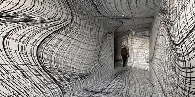 Artist Uses Optical Illusions to Create Mind-Bending Room Installations