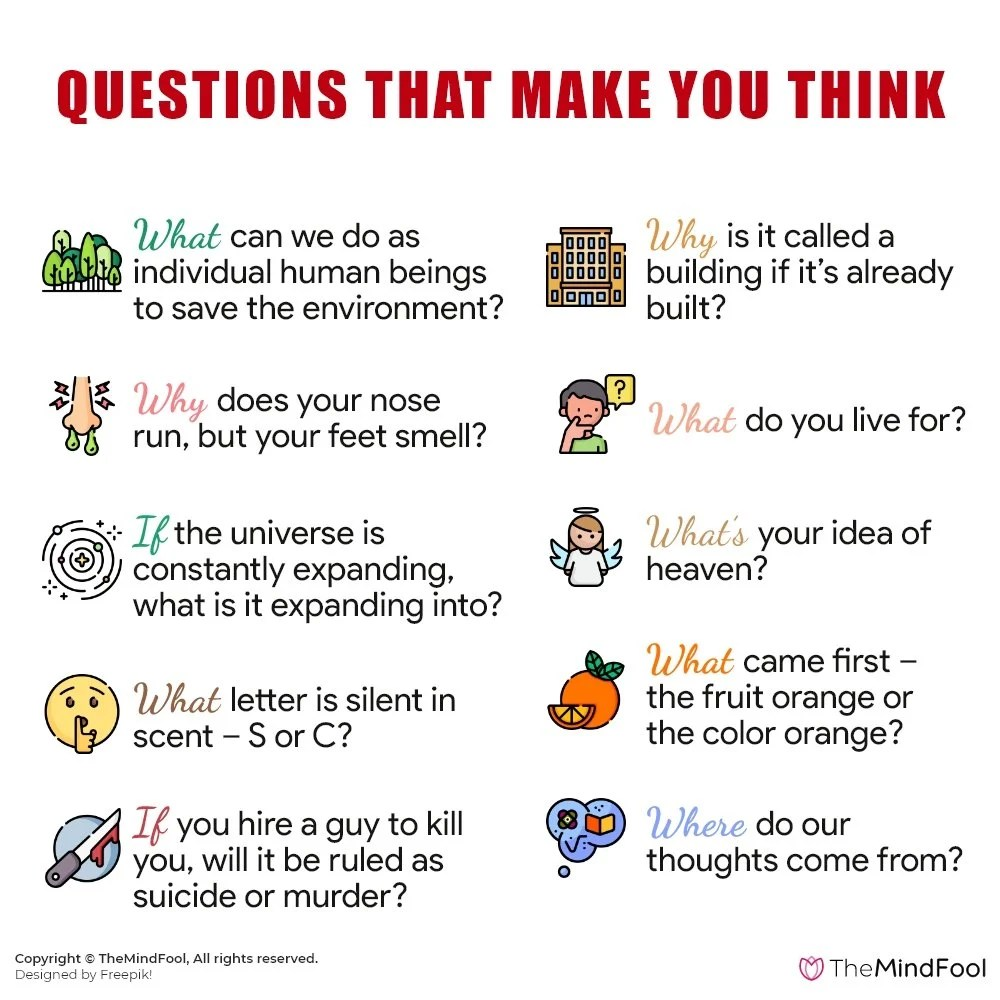 250 Questions That Make You Think and Spark Deep Conversations