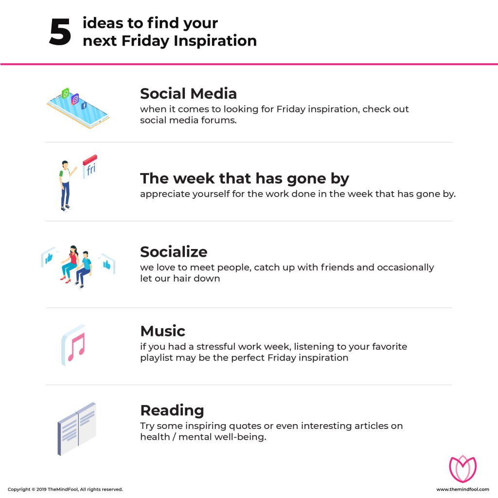 5 ideas to find your next Friday Inspiration