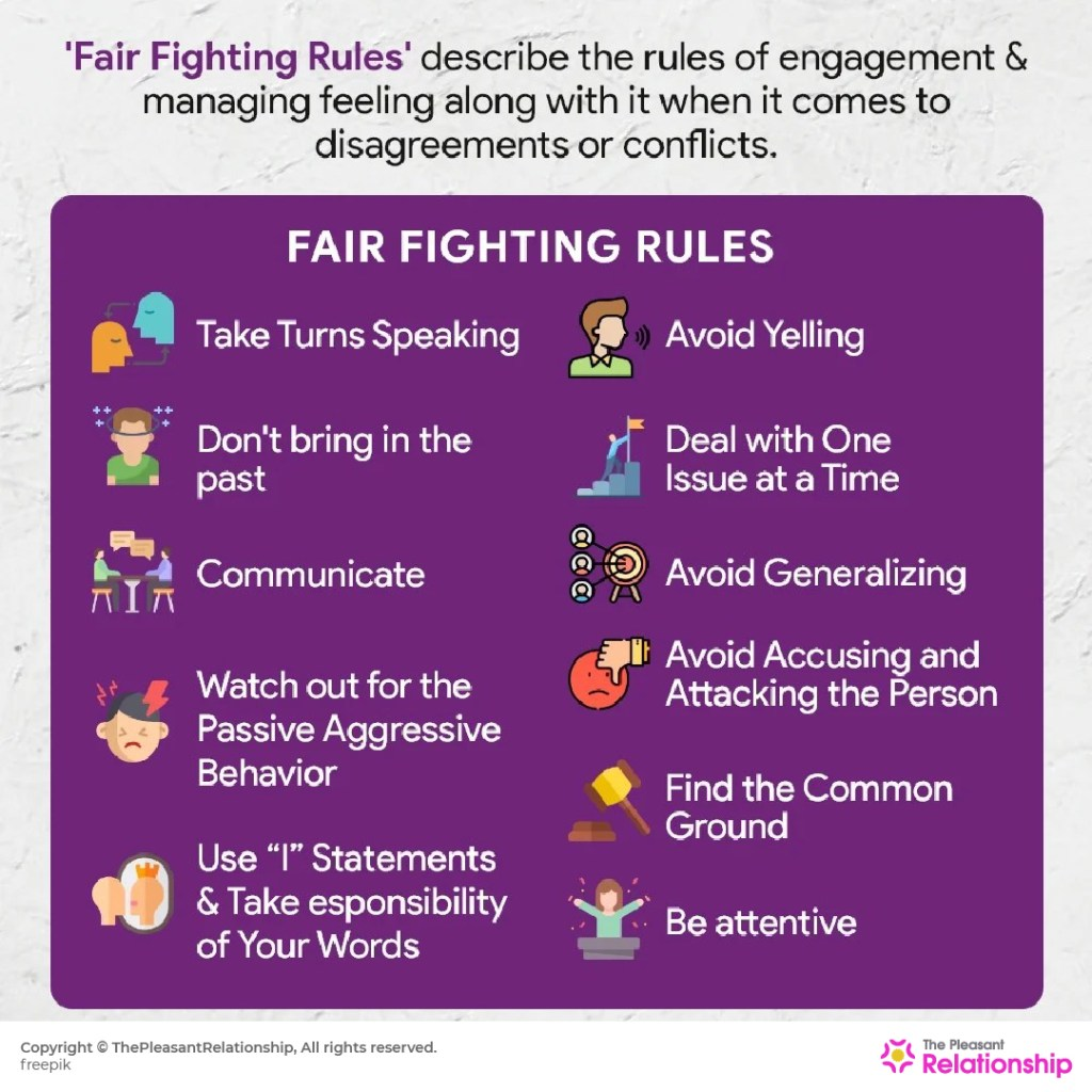 What is Fair fighting and 11 Fair Fighting Rules for Couples