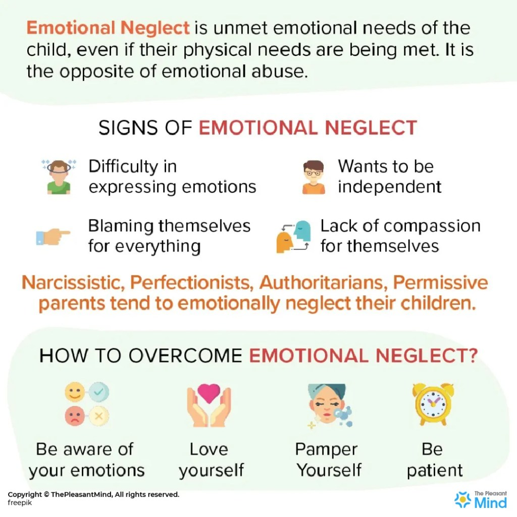 What are the signs of emotional neglect and how to overcome it?