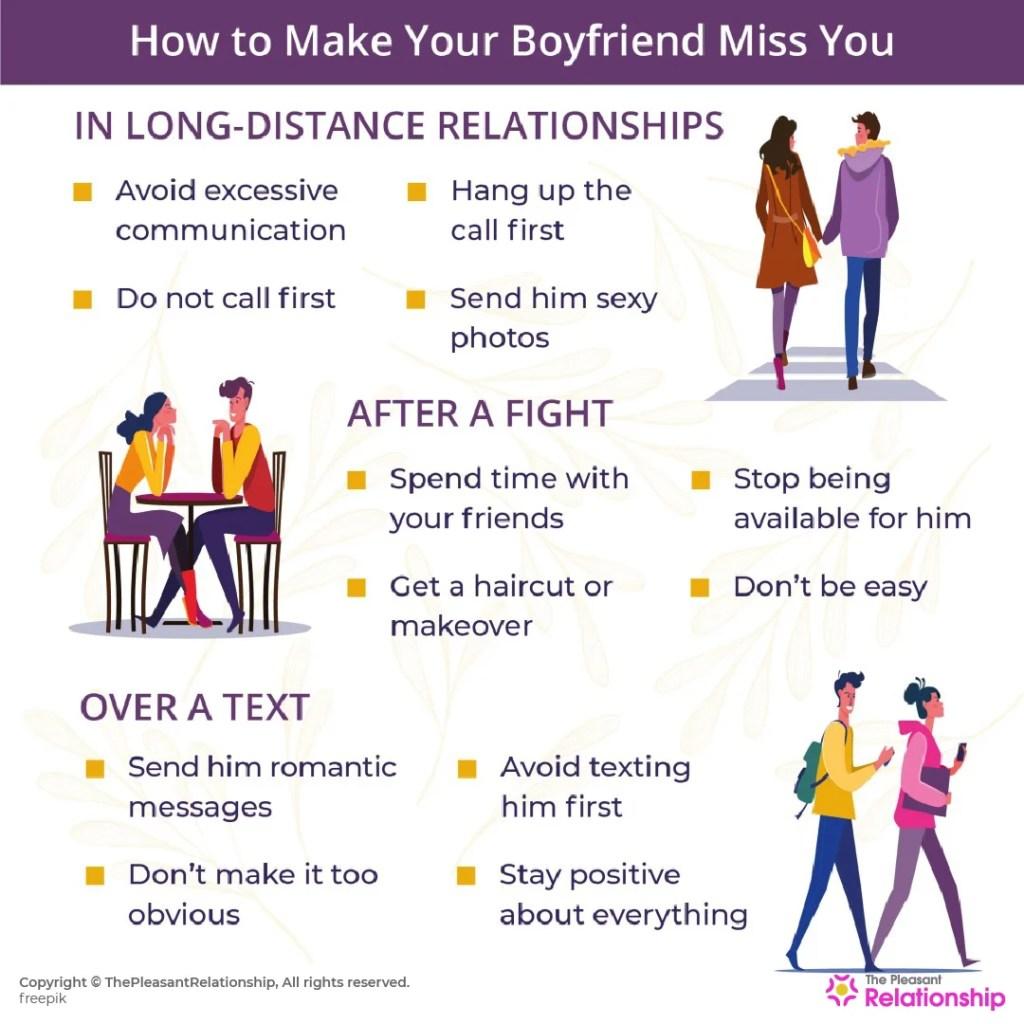 How to Make Your Boyfriend Miss You: 20 Subtle Ways!