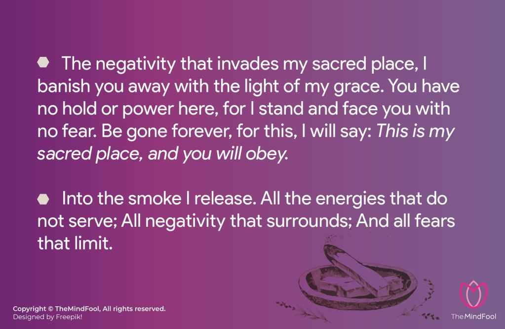 Examples of Smudging Prayers