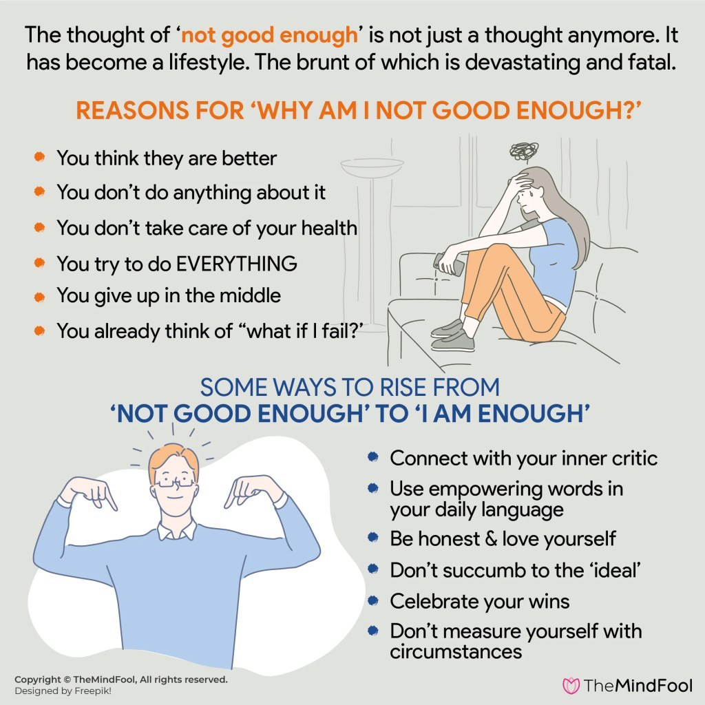 Do you feel you are not good enough? You are not alone!