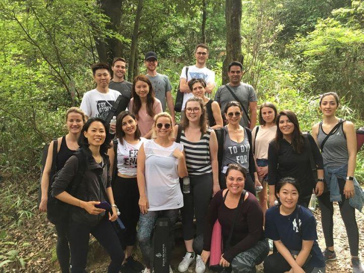 Shinrin Yoku Certification Training in Japan group of students