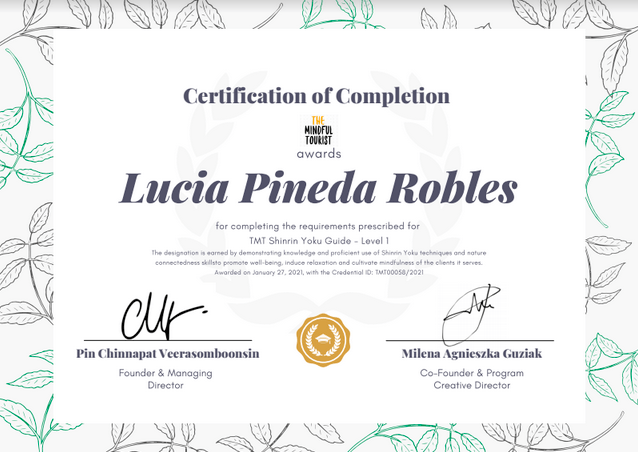 Forest Bathing certificate