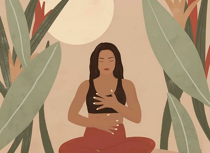 Letting go yoga art