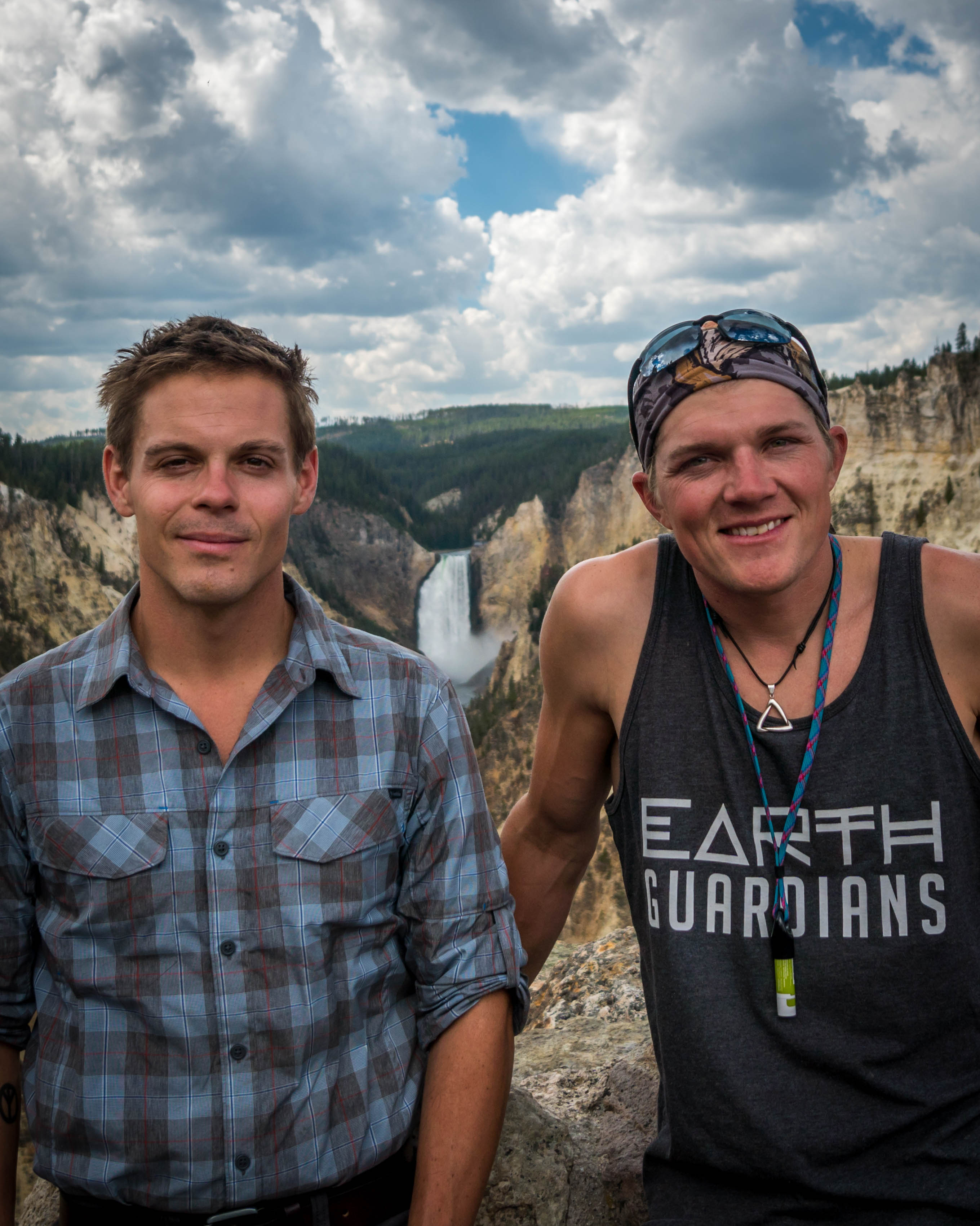 Seth Marcus and Greg Woodruff in Yellowstone Park