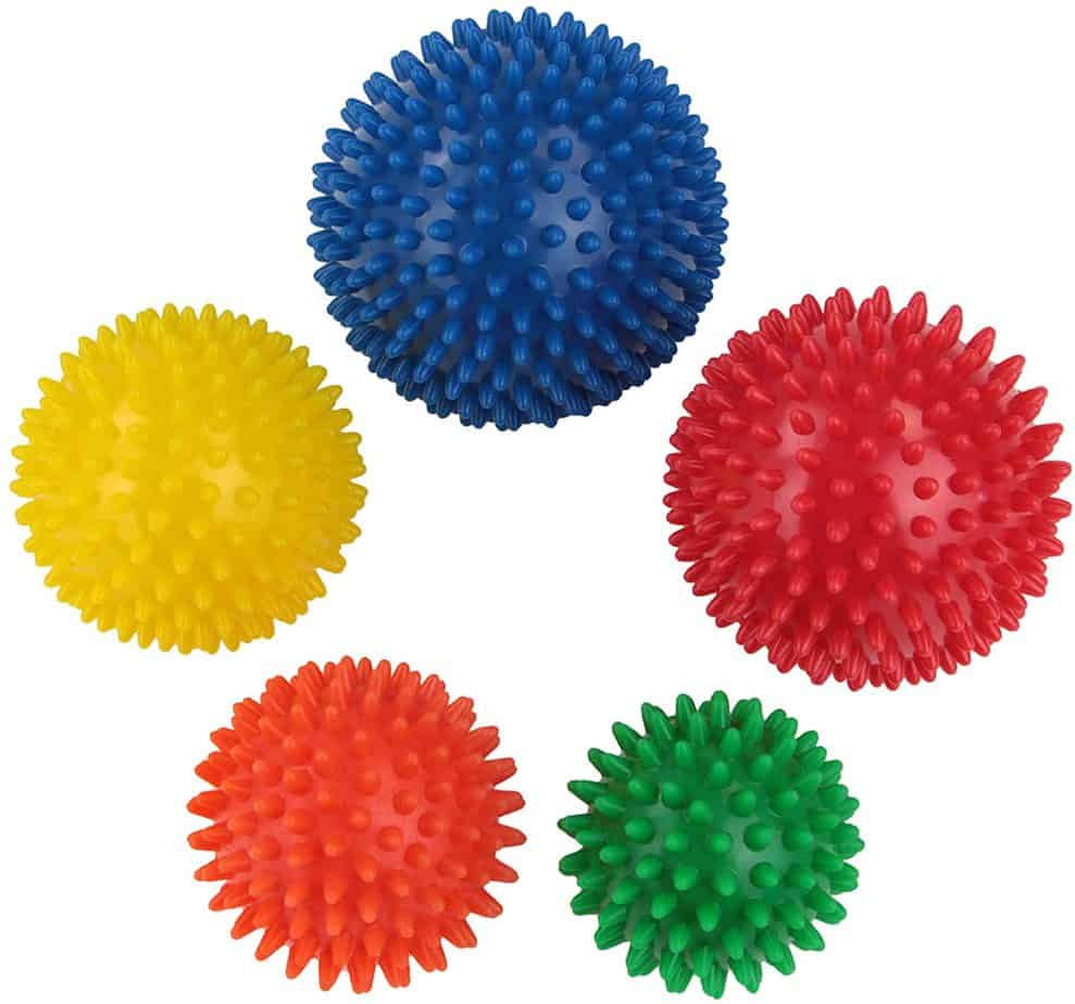 Sport massage ball set of 5 spiky balls