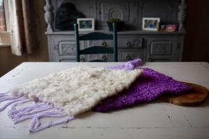 peg loom woven fleece