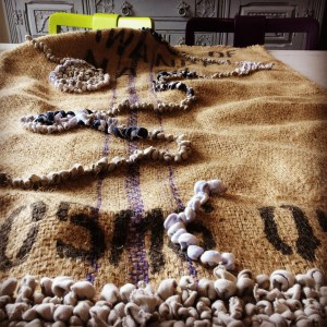 hessian sack or coffee sack rug