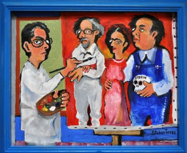 Self Portrait Painting The Trilogy In La Casa Azul Trotsky, Kahlo and Rivera 1998-2003