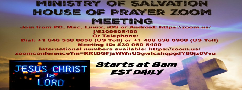 MOS house of prayer zoom meeting