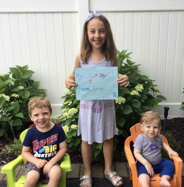 3 kids enjoying their last day of school in 2017