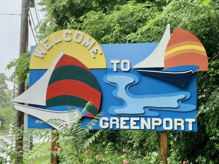 Welcome to Greenport sign on Long Island