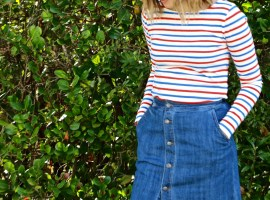 Spring Denim Skirt
