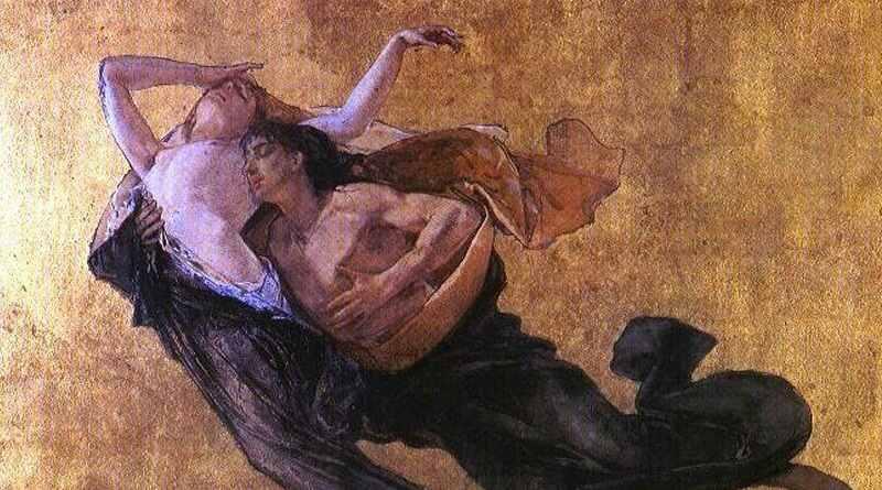 Paolo e Francesca dipinto Bianchi