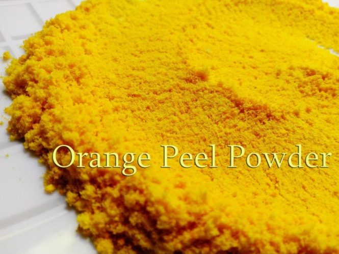 orange peel powder for hands and feet