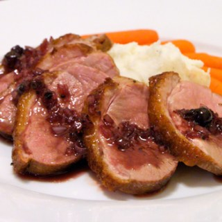 Seared Duck Breast with Blackcurrant Compote