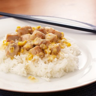 Creamed Corn with Pork and Rice