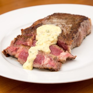 Pan Seared Rib-eye Steak with Béarnaise Sauce
