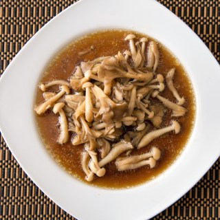 Oven-Steamed Mushrooms in Black Pepper Oyster Sauce