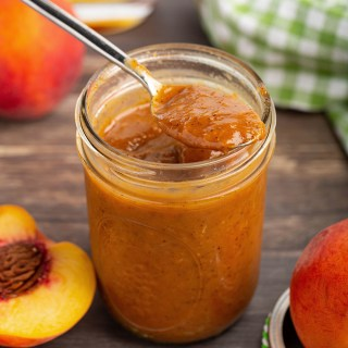 Peach-Bourbon BBQ Sauce | Sweet & tangy w/ a taste of fresh peaches. It's truly unique & perfect for BBQ. #peach #bourbon #cidervinegar #sauce #BBQ #worcestershire #grilling #condiment #summerrecipe #ediblegift | The Missing Lokness