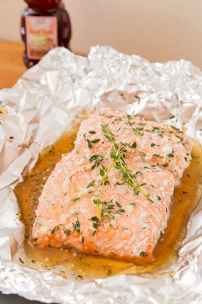 Baked Salmon with Honey and Thyme 1| The Missing Lokness
