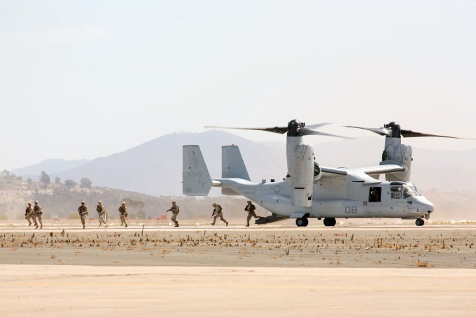Osprey brought in a bunch of Marines.