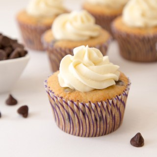Banana Chocolate Chip Cupcakes with Cream Cheese Frosting