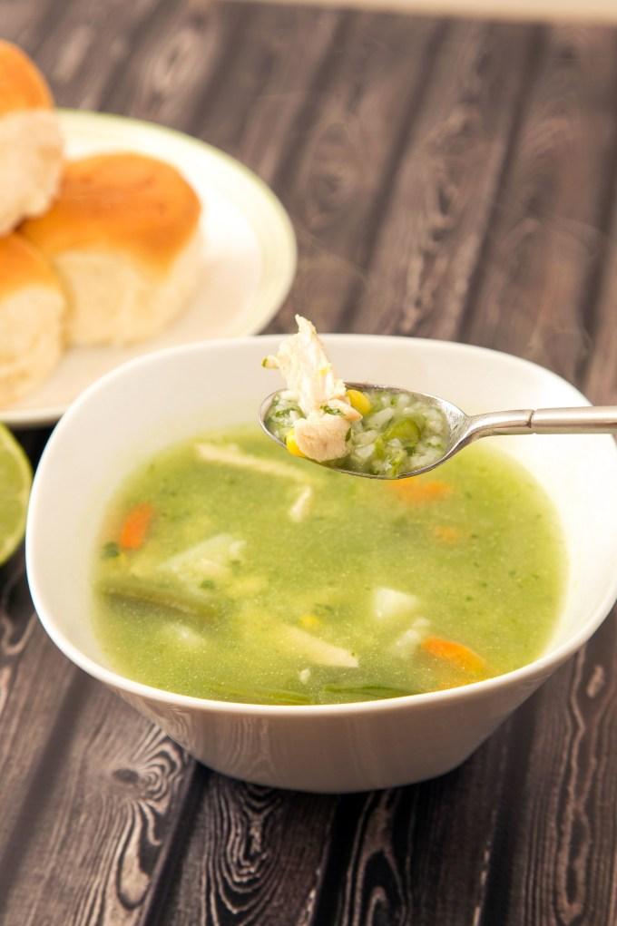Aguadito de Pollo (Peruvian Chicken and Cilantro Soup) 2 | The Missing Lokness