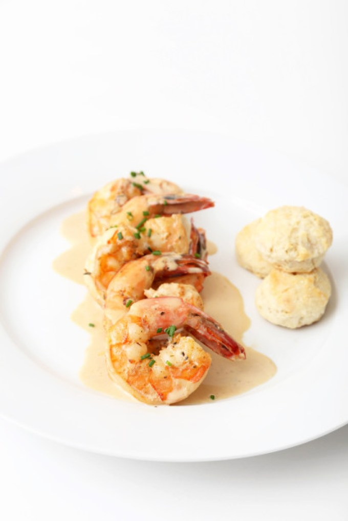 New Orleans BBQ Shrimps with Mini Rosemary Biscuits 1   The Missing Lokness