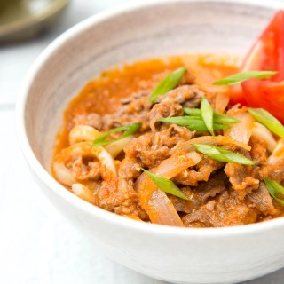 Beef Tomato Udon Soup