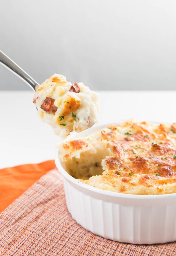 Smoked Sausage and Corn Loaded Mashed Potatoes 3| The Missing Lokness