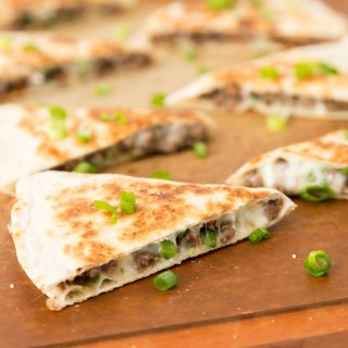 Korean Beef and Kimchi Quesadillas