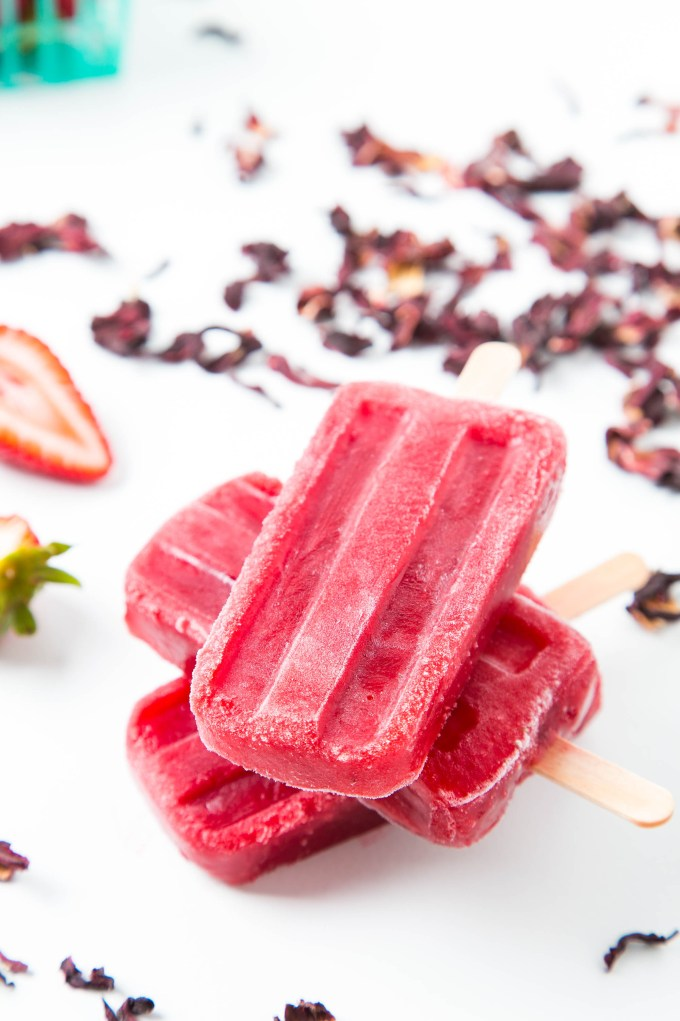 Strawberry Hibiscus Ice Pops 2| The Missing Lokness