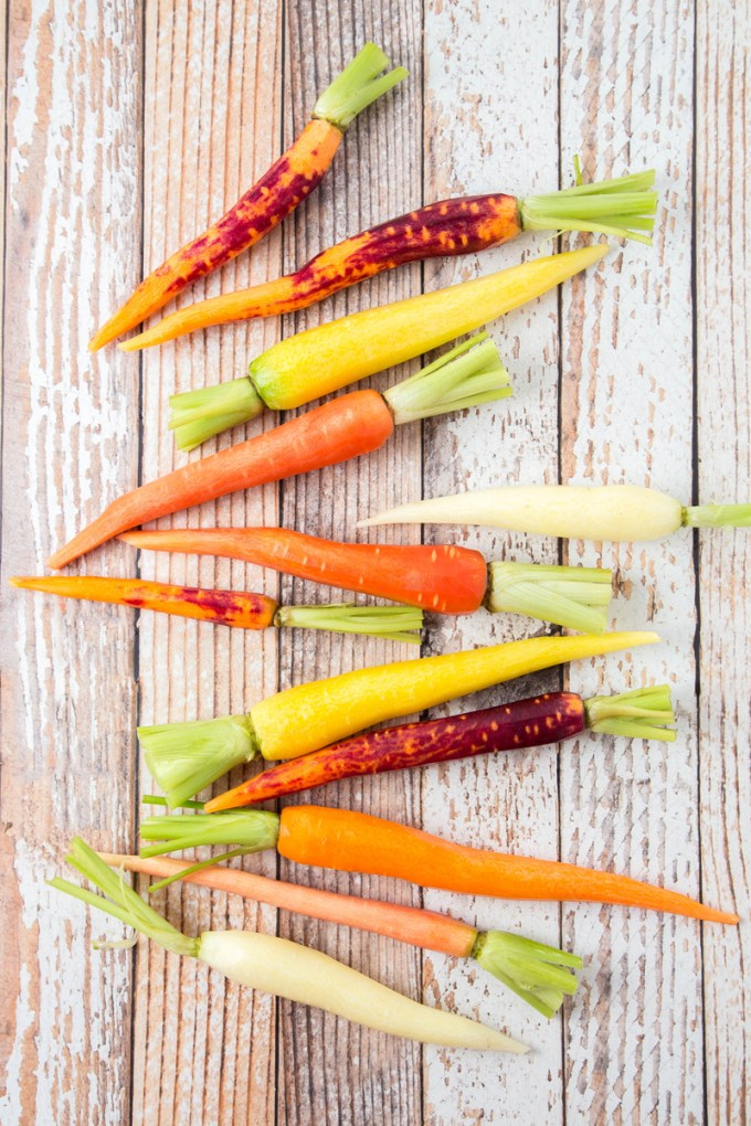 Wine-Braised Rainbow Carrots with Sage 1| The Missing Lokness