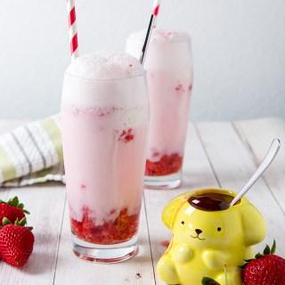 Strawberry Soda Float