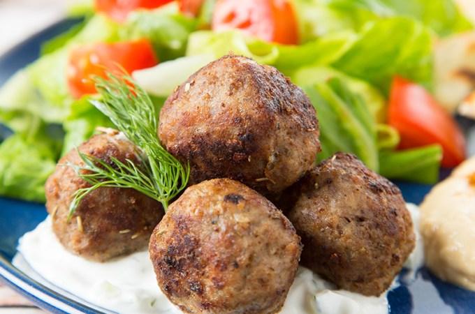 Beef and Lamb Gyro Meatballs