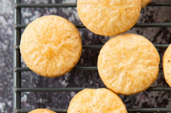Smoked Gouda and Cheddar Cookies
