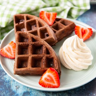 Chocolate Waffles with Kahlúa Mascarpone Cream #waffles #breakfast #kahlúa #mascarpone #wafflerecipes | The Missing Lokness